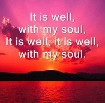 discovering your destiny- it is well with my soul